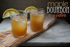Maple Bourbon Cider @FoodBlogs