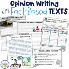 Opinion writing lesson plans on the great homework debate