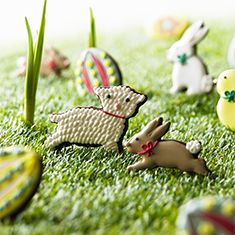 Easter with Biscuiteers. Our Easter party collection complete with eggs, rabbits and lambs!