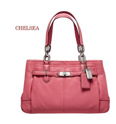 Salmon pink purse - perfect for summer