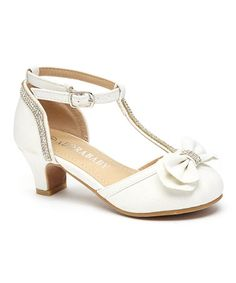 Another great find on #zulily! Silver T-Strap Bow Dressy Shoe ...