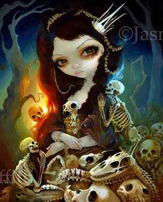 Princess of Bones art print by Jasmine by strangeling on Etsy, $29.99
