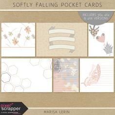 Softly Falling Pocket Cards Kit | digital scrapbooking | fall, project life, pocket scrapping, printable