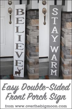 DIY Double Sided Christmas Sign - learn how to make this adorable sign with a…