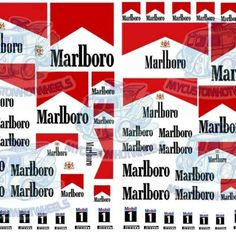 Marlboro Decals for scale model cars Handmade Tags, Handmade Shop, Car Stickers, Car Decals, Rauh Welt, All Popular, Custom Hot Wheels, Car Ins, Sticker Design
