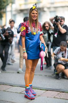 ADR what you got going on here? Kooky as she goes in Milan. #AnnaDelloRusso
