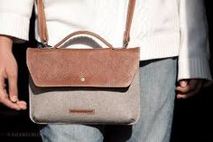 Image result for leather and wool bag