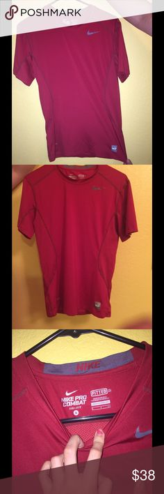 Nike brand new shirt Dri fit dark red Nike shirt. Never worn. Size small could fit medium because of material Nike Shirts Tees - Short Sleeve