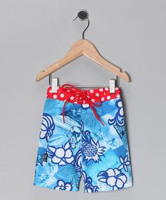 Take a look at this Blue Cherry Bomb Boardshorts - Infant, Toddler & Boys by Haiden Surf on #zulily today!