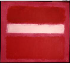 """Mark ROTHKO. """"White stripe""""  1958. Oil on canvas. Size in Cm: 206,5 x 232."""
