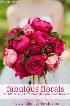 The DIY Bride's #1 resource for DIY wedding flowers Fabulous Florals Buy Bulk wholesale diy flowers here! www.fabulousflorals.com #weddingdecor #diywedding #diyflowers #peonies #bouquet