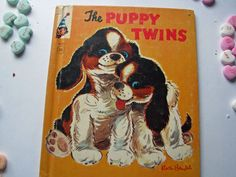 Vintage 1961 Elf Children's Book -The PUPPY Twins - pub. by Rand McNally
