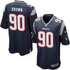 Malcom Brown New England Patriots Nike Game Jersey - Navy