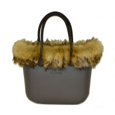 c65a1c4770 Borsa O Bag grande testa di moro manici lunghi bordo eco pelliccia e sacca