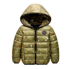 WHENOW Little Kids Boys Puffer Coat Thicken Down Jacket Outwear Green 3T. Machine Wash. Fleece lined. Zip front closure. Best birthday, New year Chritmas gift for your baby boy.