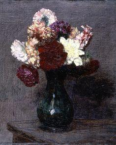 Bouquet of Dahlias on a table, Henri Fantin-Latour.