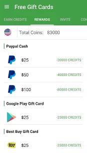 Free Gift Cards: miniatura de captura de pantalla