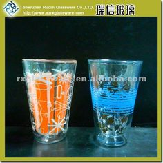 Creative Glass Cup With Inside Logo Printing