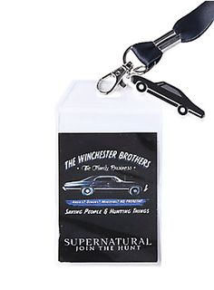 Angels? Demons? Monsters? No problem! All part of being part of the Winchester family business. Lanyard with a Winchester Brothers - The Family Business design.