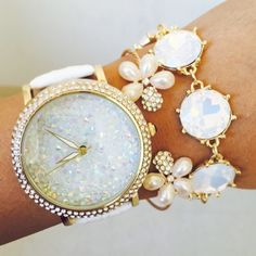 jewels ishopcandy.com watch iridescent white watch