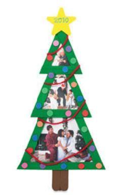Craft stick photo frame Christmas Tree