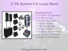 A Range PA #System For Large #Band
