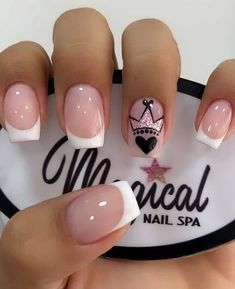 Best Acrylic Nails, Acrylic Nail Designs, Nail Manicure, Gel Nails, Nail Spa, Diy Ongles, Short Square Nails, Short Nails, Nail Art Designs Videos