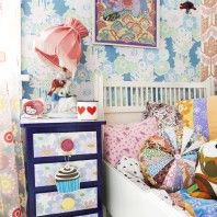 this is lovely, I really like the vintage fabrics and wallpapers