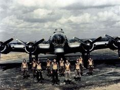A B-17 Flying Fortress at a base 'somewhere in England'.