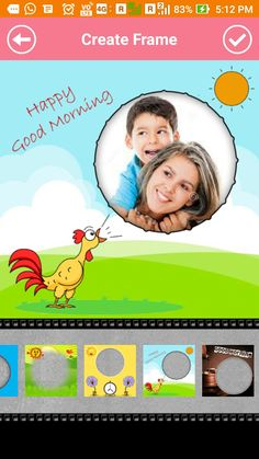 Good Morning Photo Frames is a greeting application that is able to take a snap shot and merge it with the greeting photo frame. By using the Good Morning Photo Frames. https://goo.gl/rxHWNq