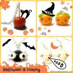 kawaii Halloween jewelry - cute halloween earrings