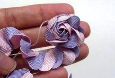 Flor de fita como fazer 12