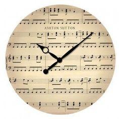 Ashton Sutton Music Note Wall Clock, $