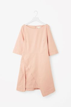 Dress with draped skirt