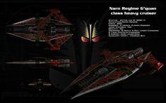 Narn G'Quan class heavy cruiser ortho by unusualsuspex.deviantart.com on @deviantART