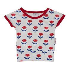 ba*ba kidswear girls shirt rose #EKOkatoen #GOTS #duurzaam ekodepeko.nl