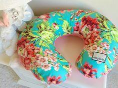 Coral Floral Nursing Pillow Cover