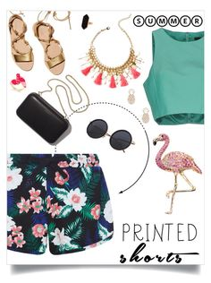 """""""Printed Shorts..."""" by amybaby13 ❤ liked on Polyvore featuring New Look, TIBI, Loeffler Randall, Clare V., Kate Spade, Jaeger, Lilly Pulitzer, Sole Society and printedshorts"""
