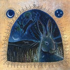 by Hannah Willow Hare Pictures, Pagan Art, Spirited Art, Rabbit Art, Bunny Art, Comic, Woodland Creatures, Illustrations Posters, Creative Art