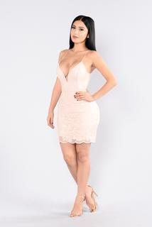 No Time Wasted Dress - Blush