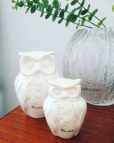 Rosa Ljung/owls/owl/figurines/swedish ceramics/midcentury by WifinpoofVintage on Etsy Vintage Home Decor, Unique Vintage, Mid Century Modern Decor, Midcentury Modern, Vintage Shops, Vintage Items, Helsingborg, Home Goods Decor, Kitsch