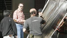 """2007 Tom Selleck during filming Jesse Stone """"Sea Change"""""""