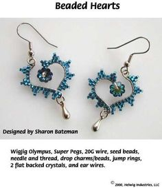 BEADED HEARTS EARRINGS
