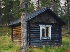 Wood Houses, Wooden Buildings, Outdoor Sauna, Small Cottages, Little Cabin, Saunas, Okra, Cabin Homes, Camps