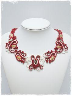 ソウタシエネックレス soutache necklace C000059