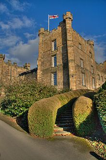 Lumley Castle is a 14th century quadrangular castle in Chester-Le-Street, Durham, England. Built by Sir Ralph Lumley in 1389