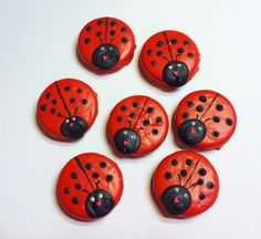 Ladybug Chocolate covered Oreo's by JamiesCakePops on Etsy