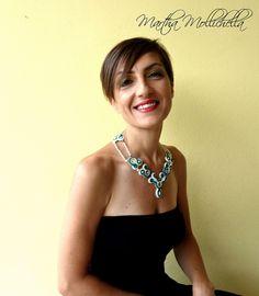 collana soutache swarovski e perle www.marthamollichella.com - Lacasinaditobia Lacasinaditobia
