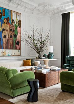 Inside the Paris Atelier of Duo Luis Laplace and Chris.- Inside the Paris Atelier of Duo Luis Laplace and Christophe Comoy - Eclectic Living Room, Interior Design Living Room, Living Room Decor, Living Spaces, Interior Decorating, Interior Modern, Interior Colors, Modern Exterior, Small Living