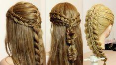 Hair tutorials. Compilation. Easy braid hairstyles.